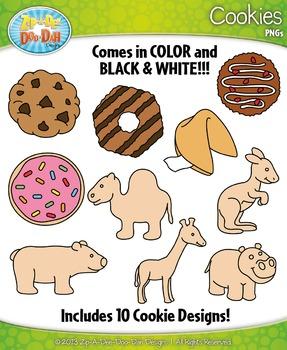 Cookies Clipart {Zip.