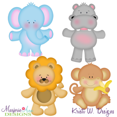 Animal Crackers SVG Cutting Files Includes Clipart.