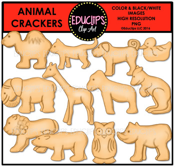 Animal Crackers Clip Art Bundle {Educlips Clipart}.