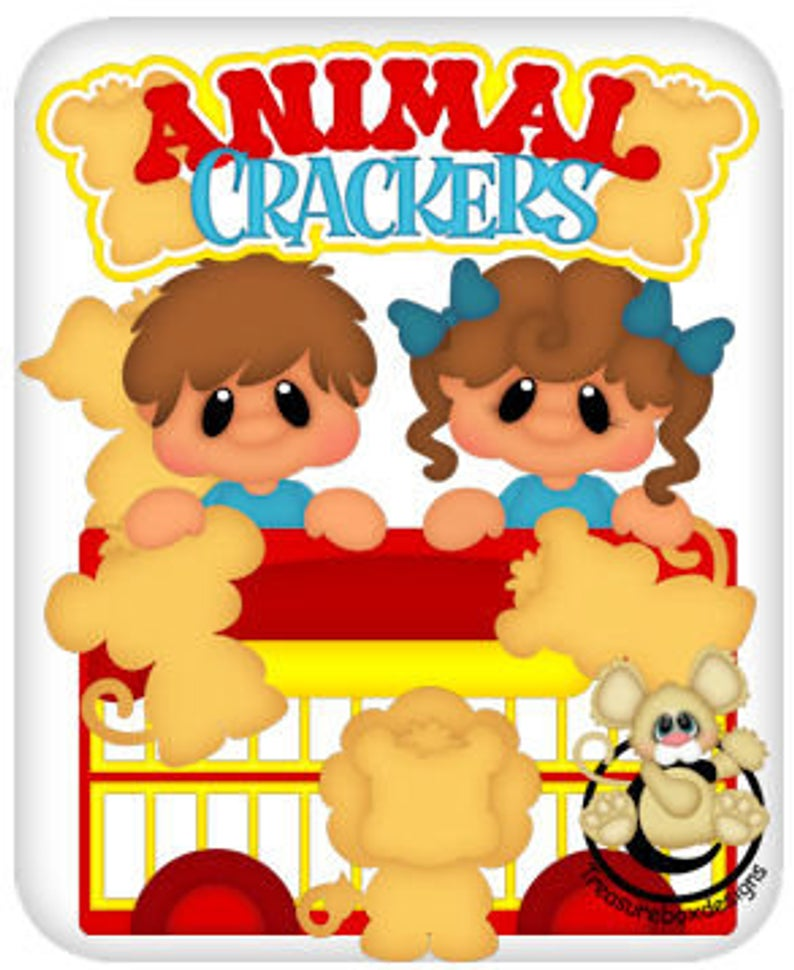 Animal Crackers vector graphics, digital clipart, digital images,  scrapbooking, instant download.