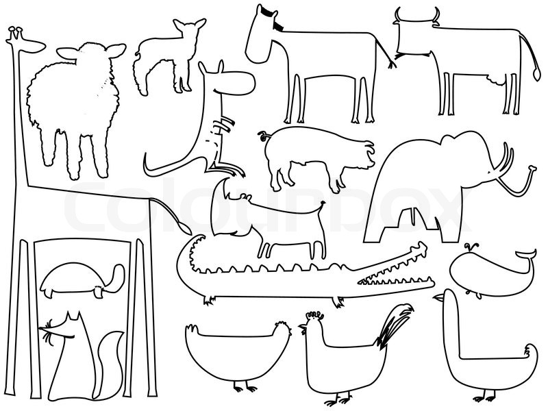Animal Silhouette Outline.