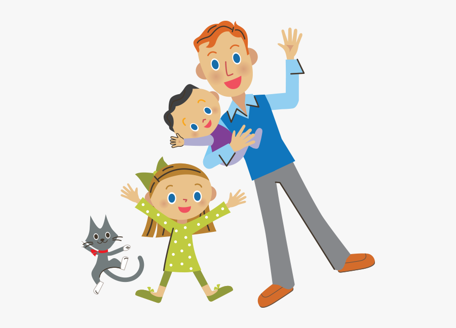 Cartoon Dad Kids Png , Free Transparent Clipart.