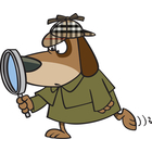 Detective Dog Clipart.
