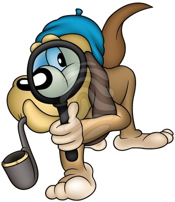 Dog Detective Clipart.