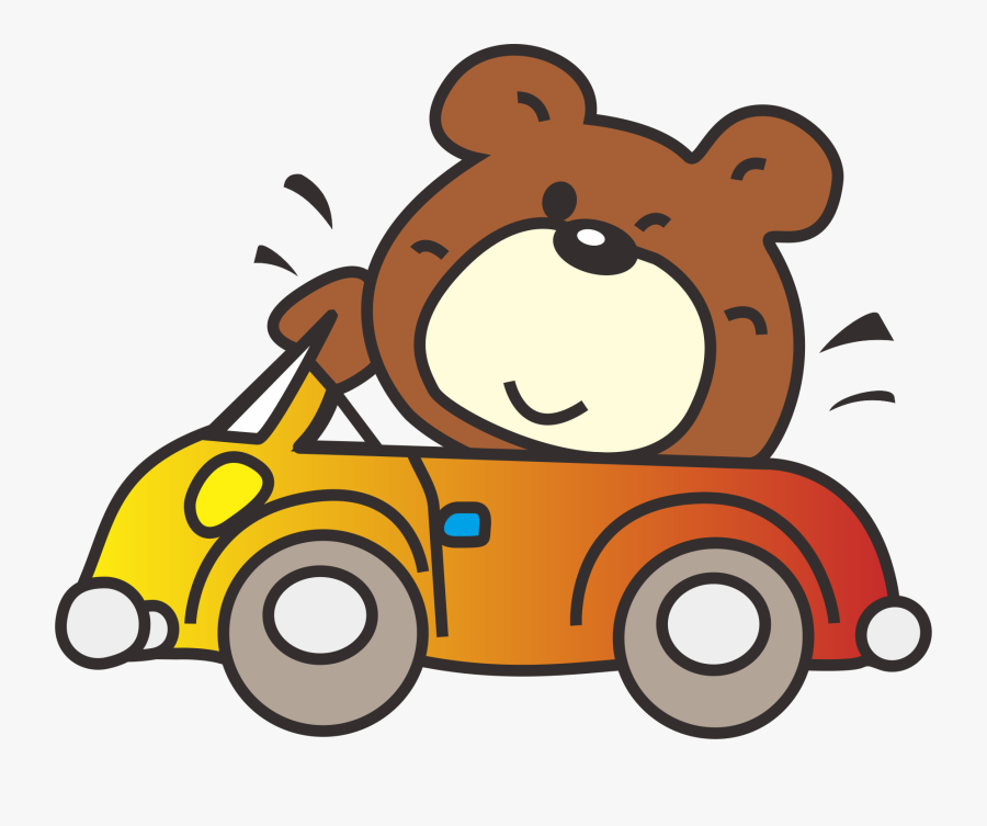 Clip Art Bear Driving Car.