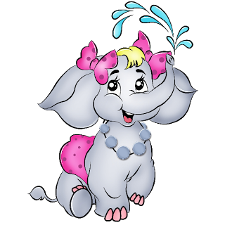 Valentine Elephant Clipart.