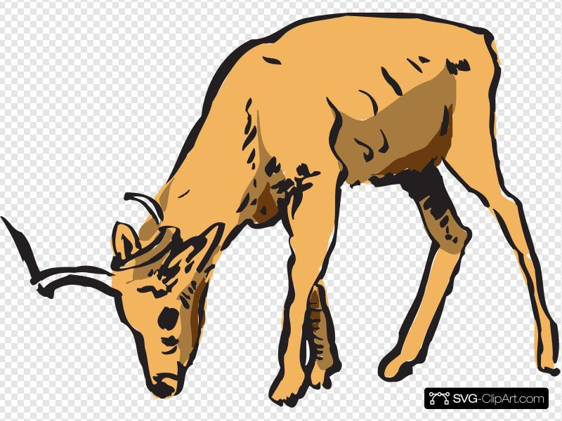 Antelope Eating Clip art, Icon and SVG.
