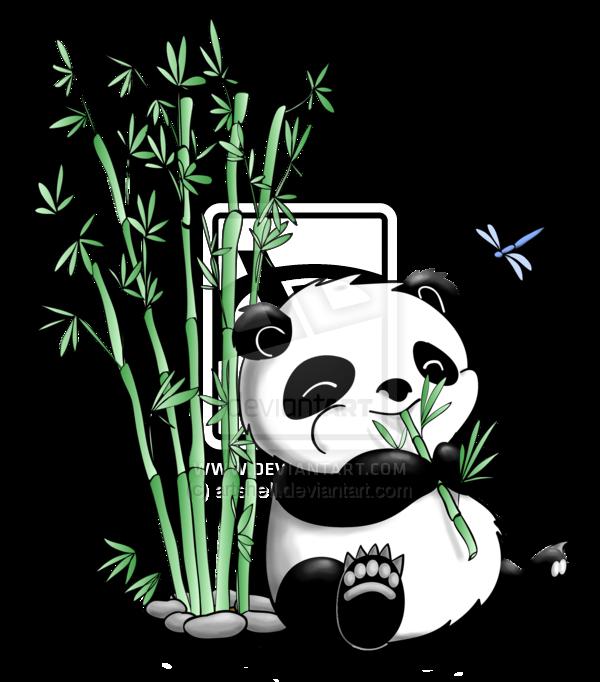 Panda clipart eating plant, Panda eating plant Transparent.