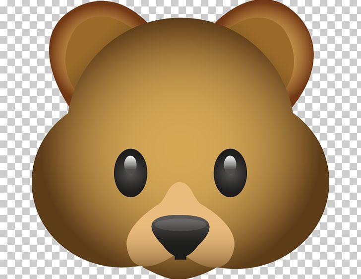 Bear Emoji Emoticon PNG, Clipart, Animals, Bear, Carnivoran.