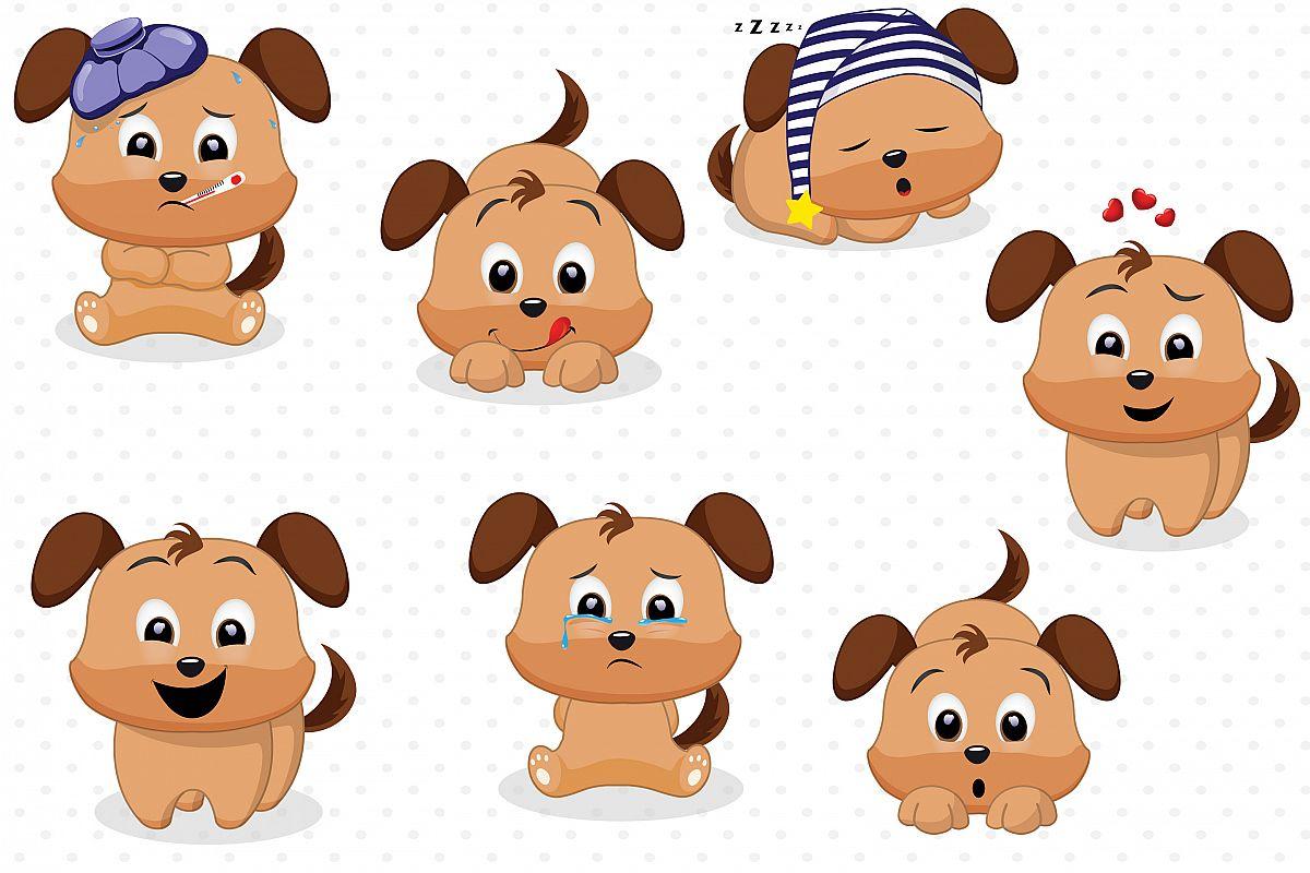 Dog emotions graphics, Dog clipart.