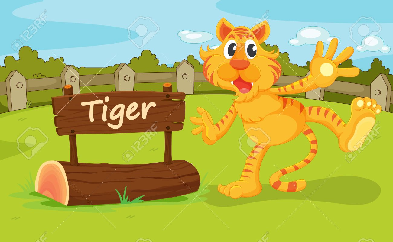 Illustration Of Animal Enclosure At The Zoo Royalty Free Cliparts.