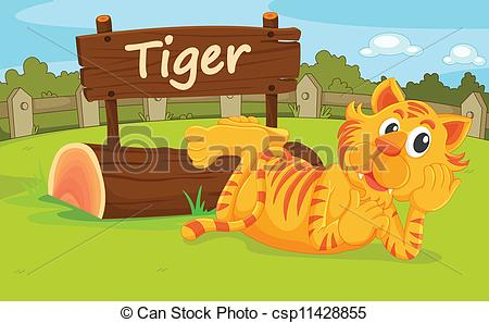 Clipart Vector of Zoo animal.