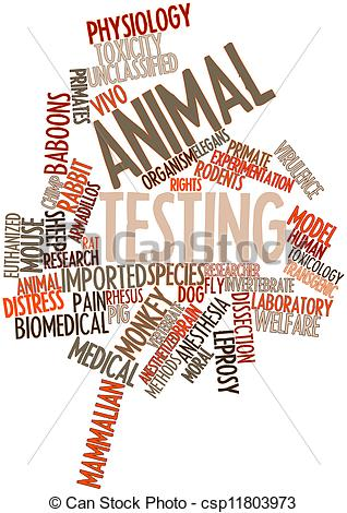 Animal testing clipart.