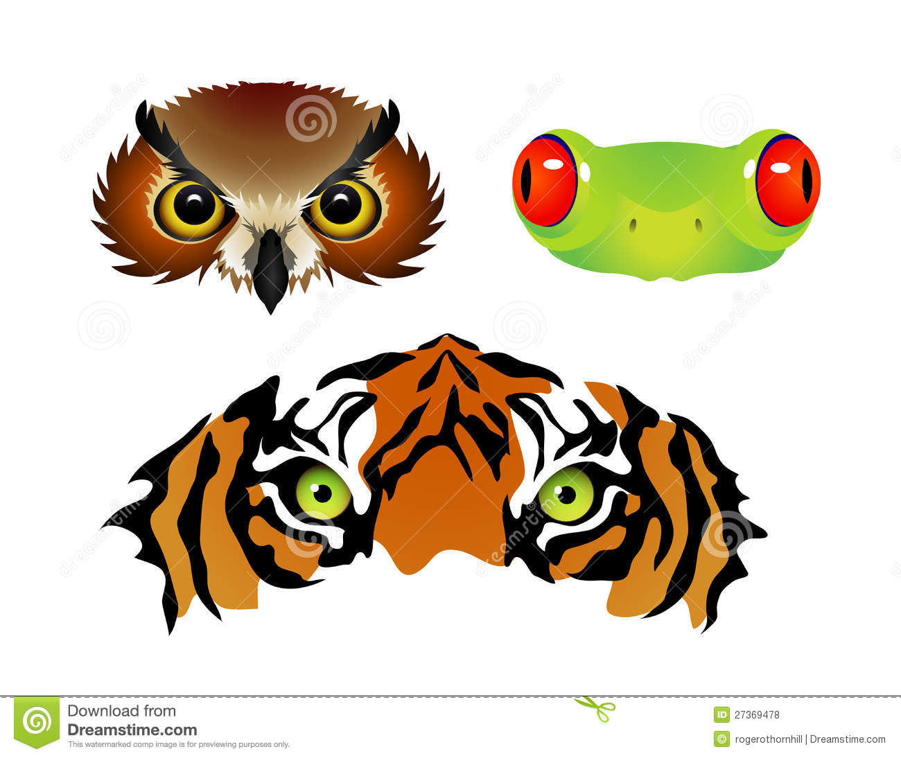 Animal Eyes Royalty Free Stock Photos.