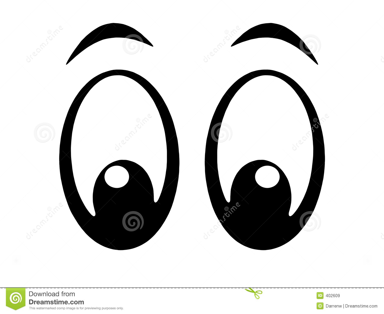 Clipart animal eyes cartoon.