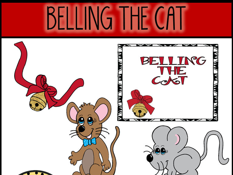 Belling The Cat (Aesop\'s Fable) Clip Art.