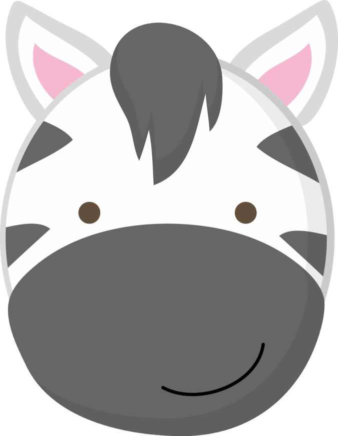 baby zoo animal face clipart.