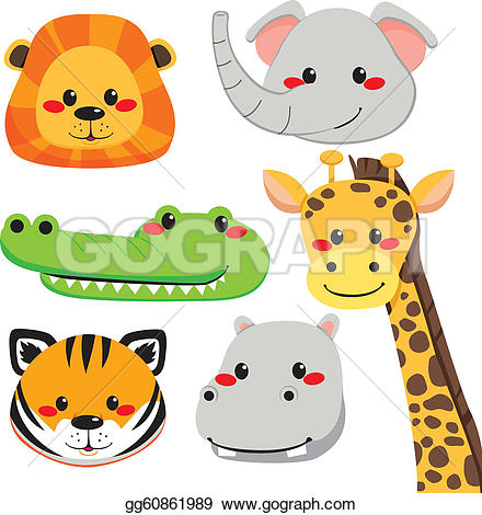 Animal Faces Clip Art.