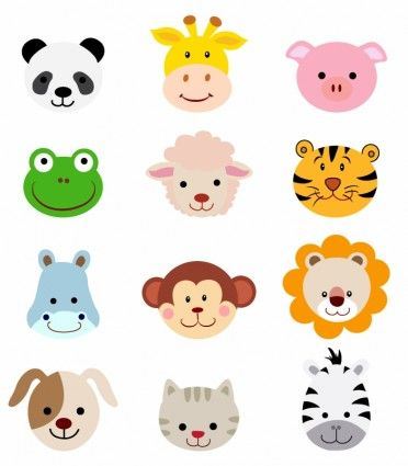 Animal Faces Clip Art Free.