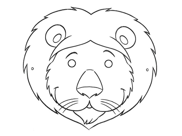 Animal Mask Clipart Black And White.