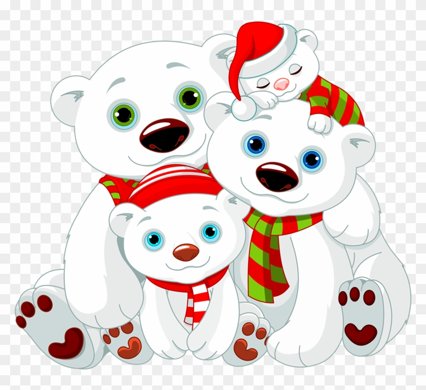 Families Clipart Polar Bear.