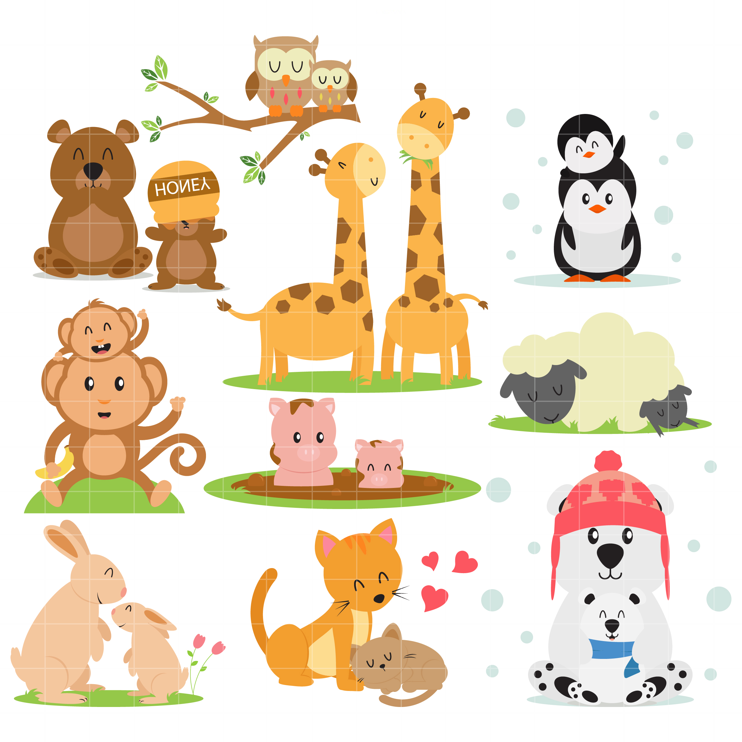 Free Family Animal Cliparts, Download Free Clip Art, Free.