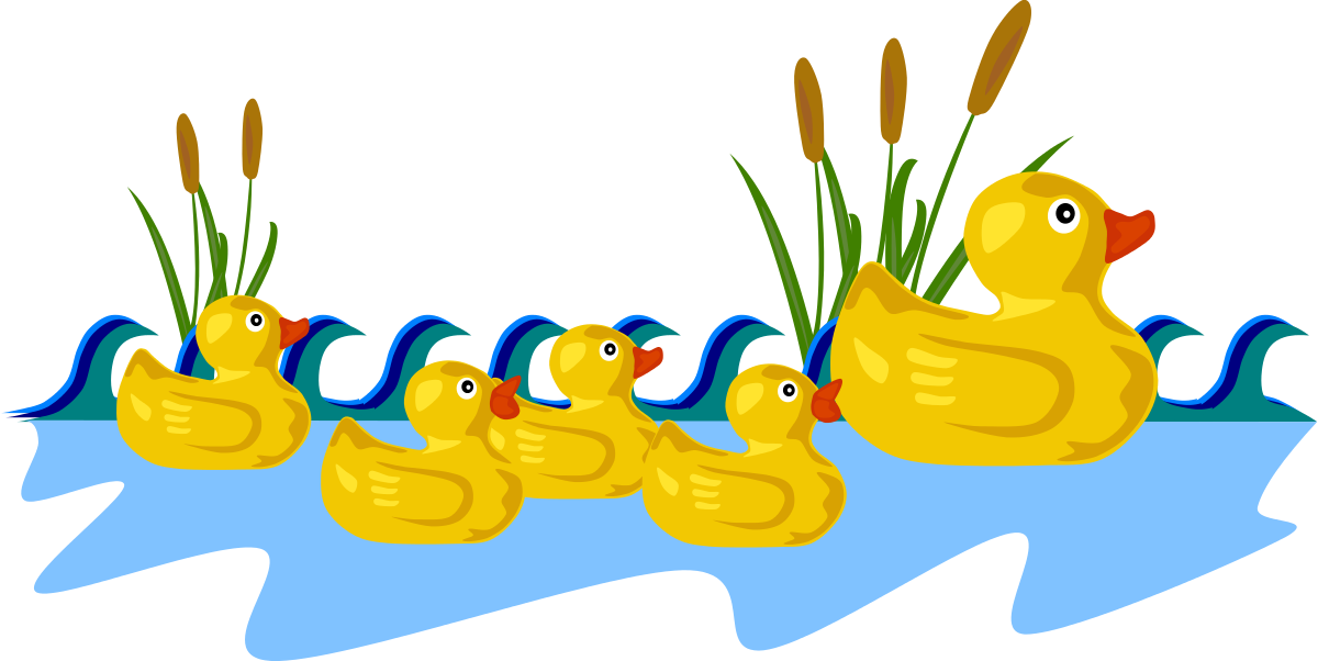 Rubber Duck Family Clipart by Gerald_G : Animal Cliparts.