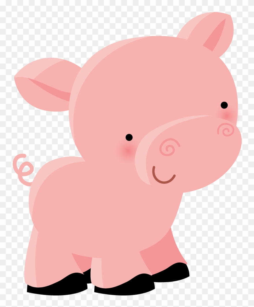 Pig Illustration, Farm Animals, Cute Animals, Farm.