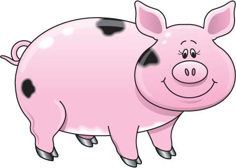 Pigs On A Farm Clipart.