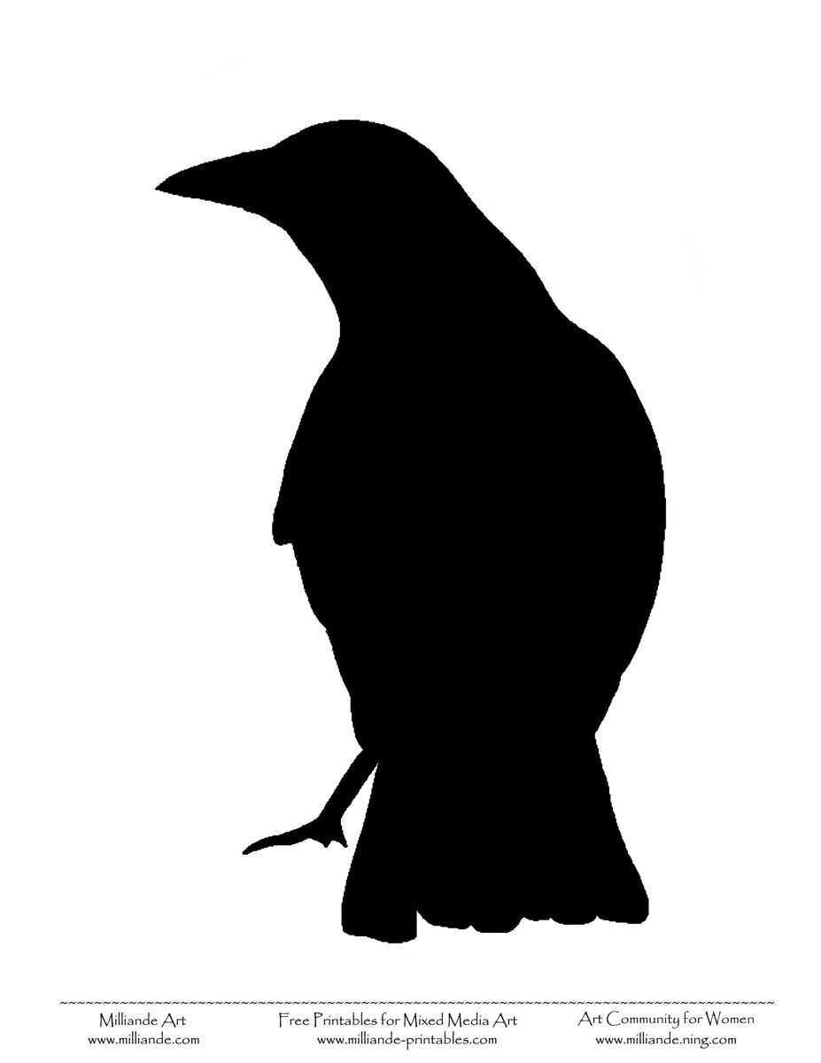 Raven Silhouette Bird silhouettes free.
