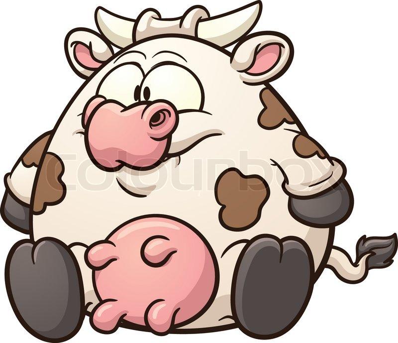Fat Cow Clipart.
