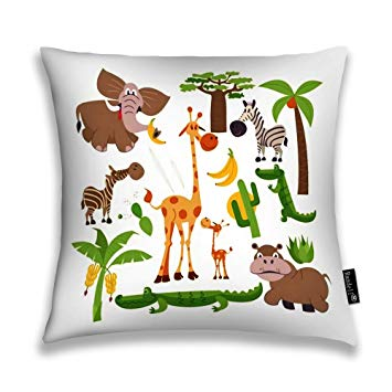 Amazon.com: Randell Decorative Pillow African Cartoon.