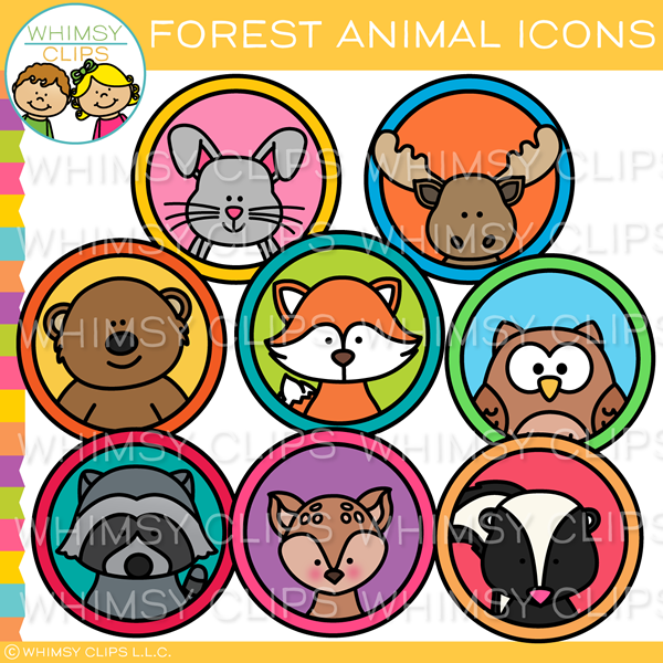 Forest Animal Icon Clip Art.