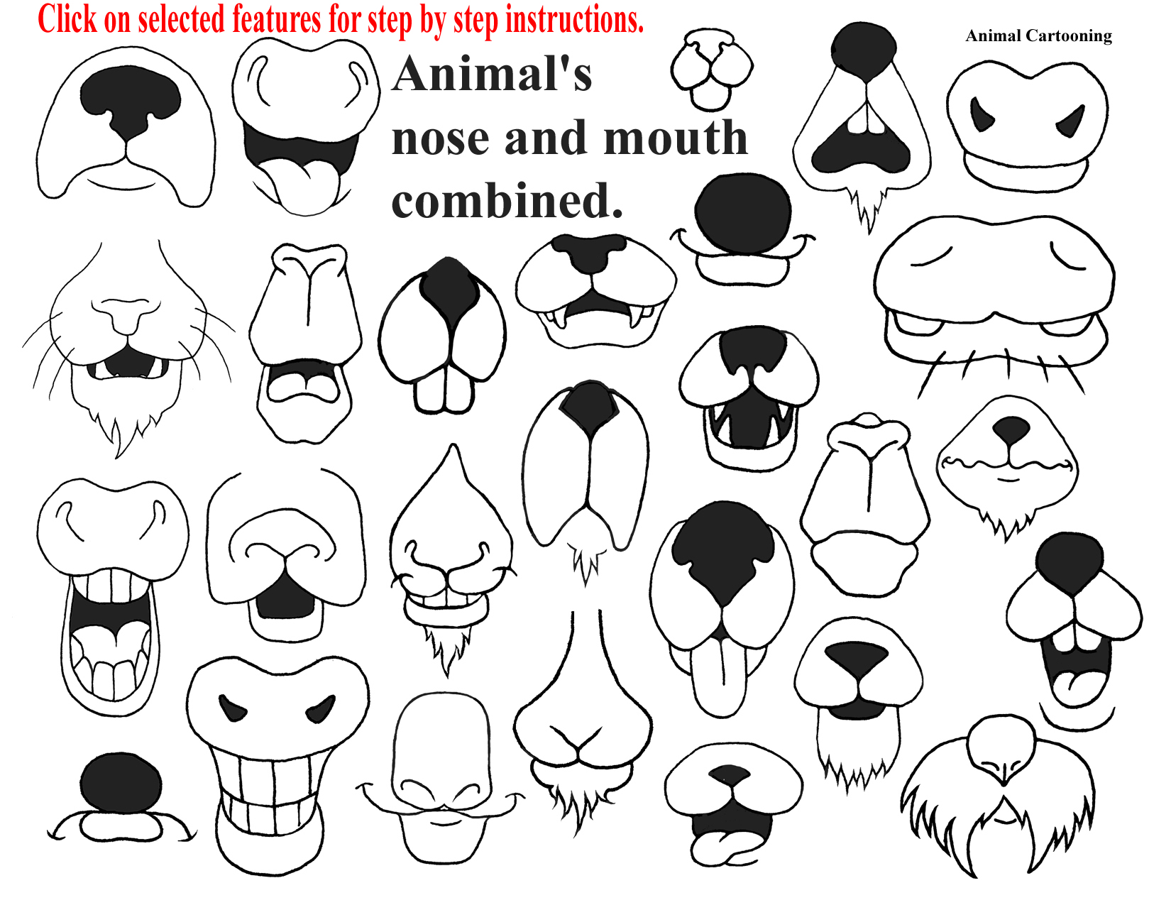 Animal nose clipart.
