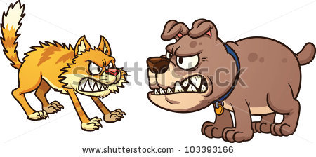 Dog Fight Stock Images, Royalty.
