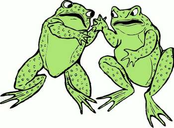 Free Clipart Picture of a Two Frogs Fighting AnimalClipart.net.