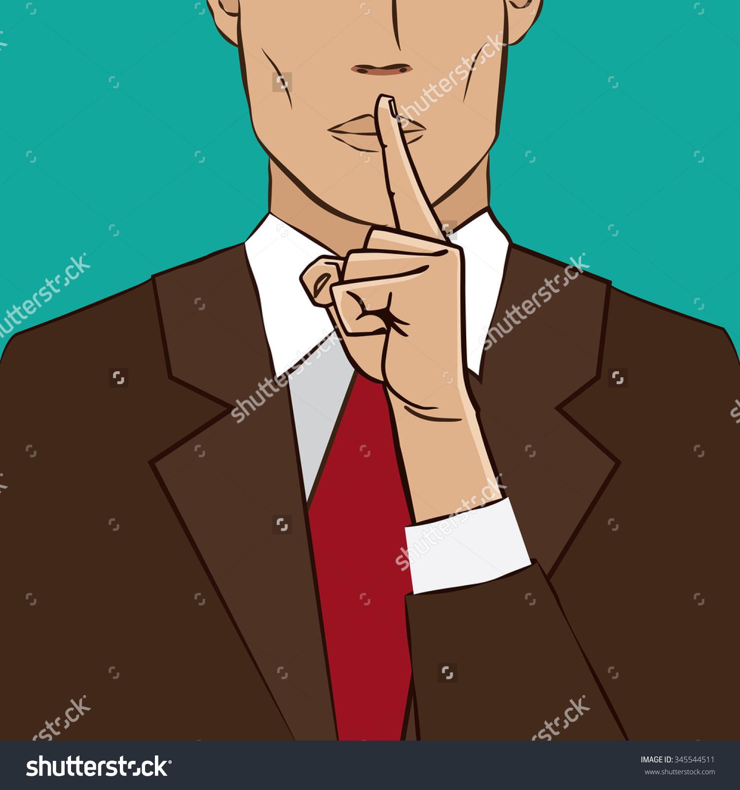 Animal Finger Shushing On Lips Clipart.