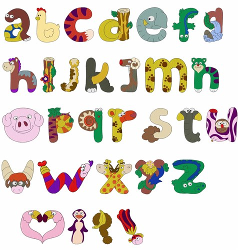 14 Animal Letters Font Images.