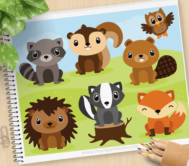 Forest Animals Clipart.