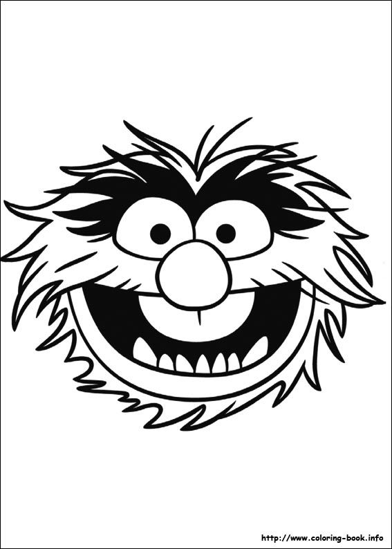 The Muppets coloring picture but could easily be made into.