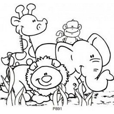 Animal Group Clipart Black And White.