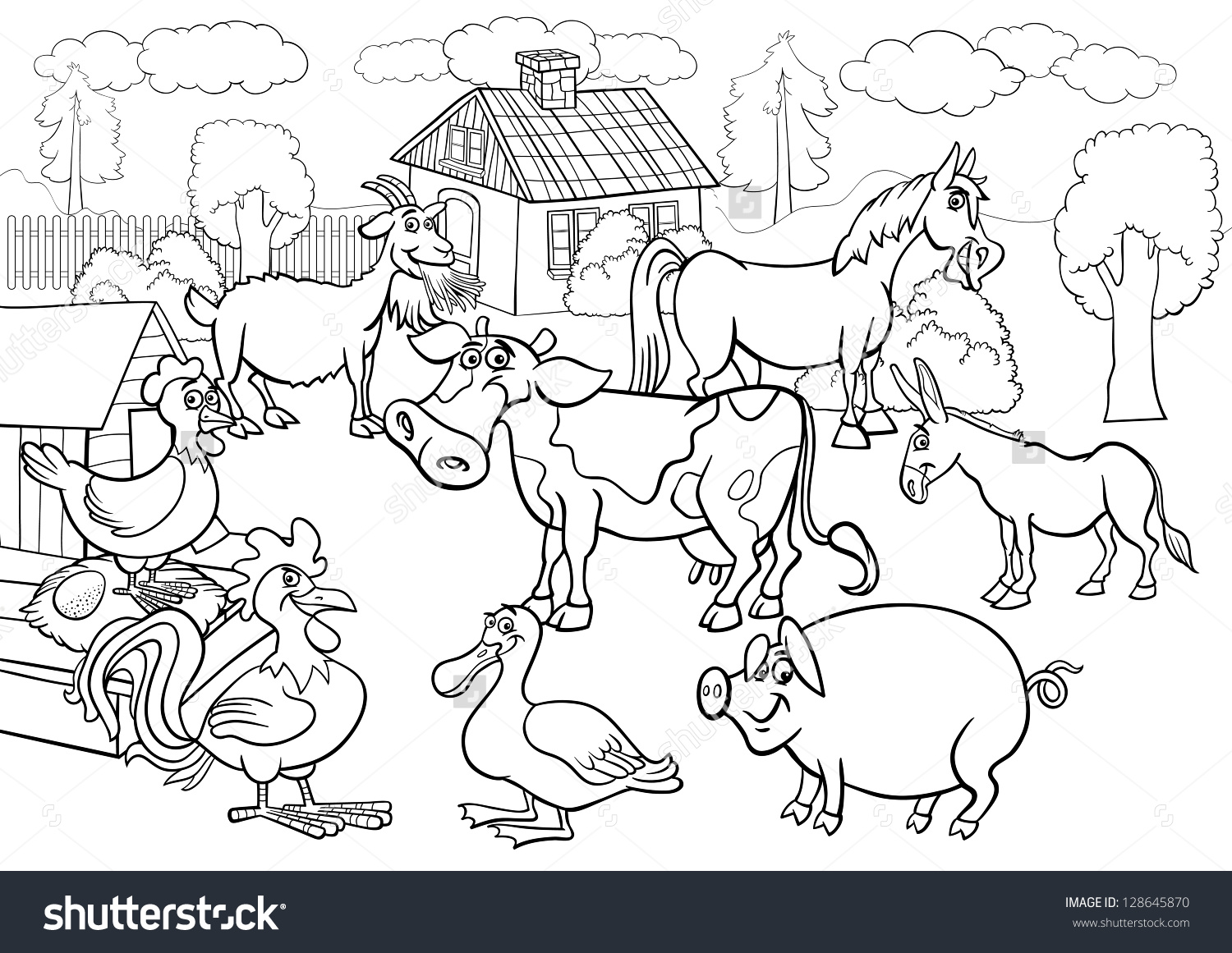 Animal Group Clipart Black And White Clipground