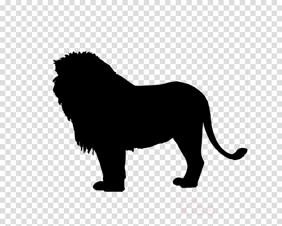hair black animal figure lion wildlife clipart.