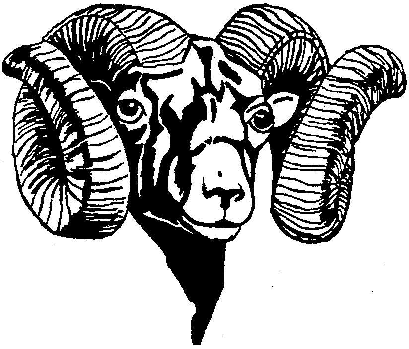 Ram head profile clipart.