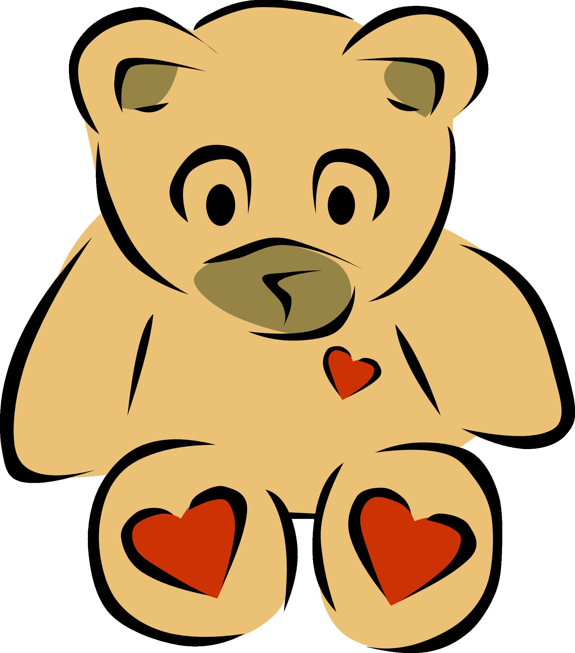 Teddy Bear Heart Clipart.