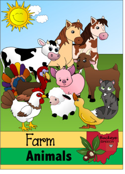 Farm Animals Clipart ~Buckeye Speech~.