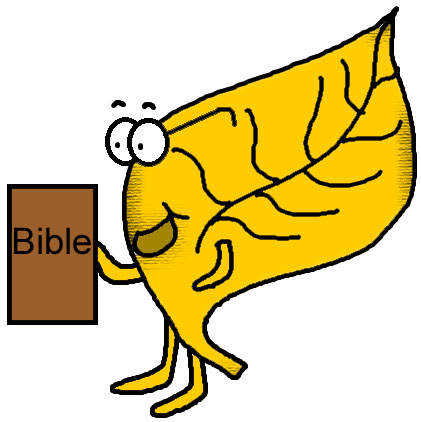 Animal Holding Bible Clipart.