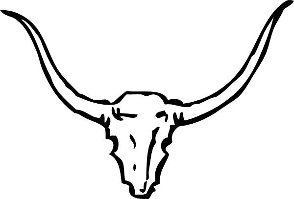 Bull Skull clip art Free vector in Open office drawing svg ( .svg.