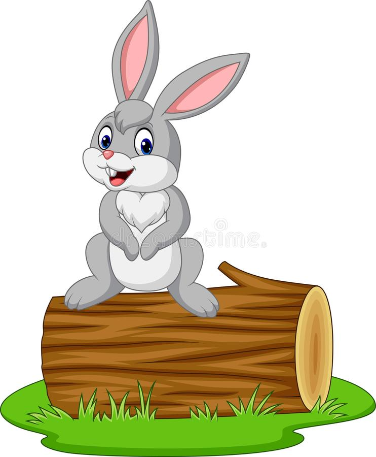 Log Rabbit Stock Illustrations.