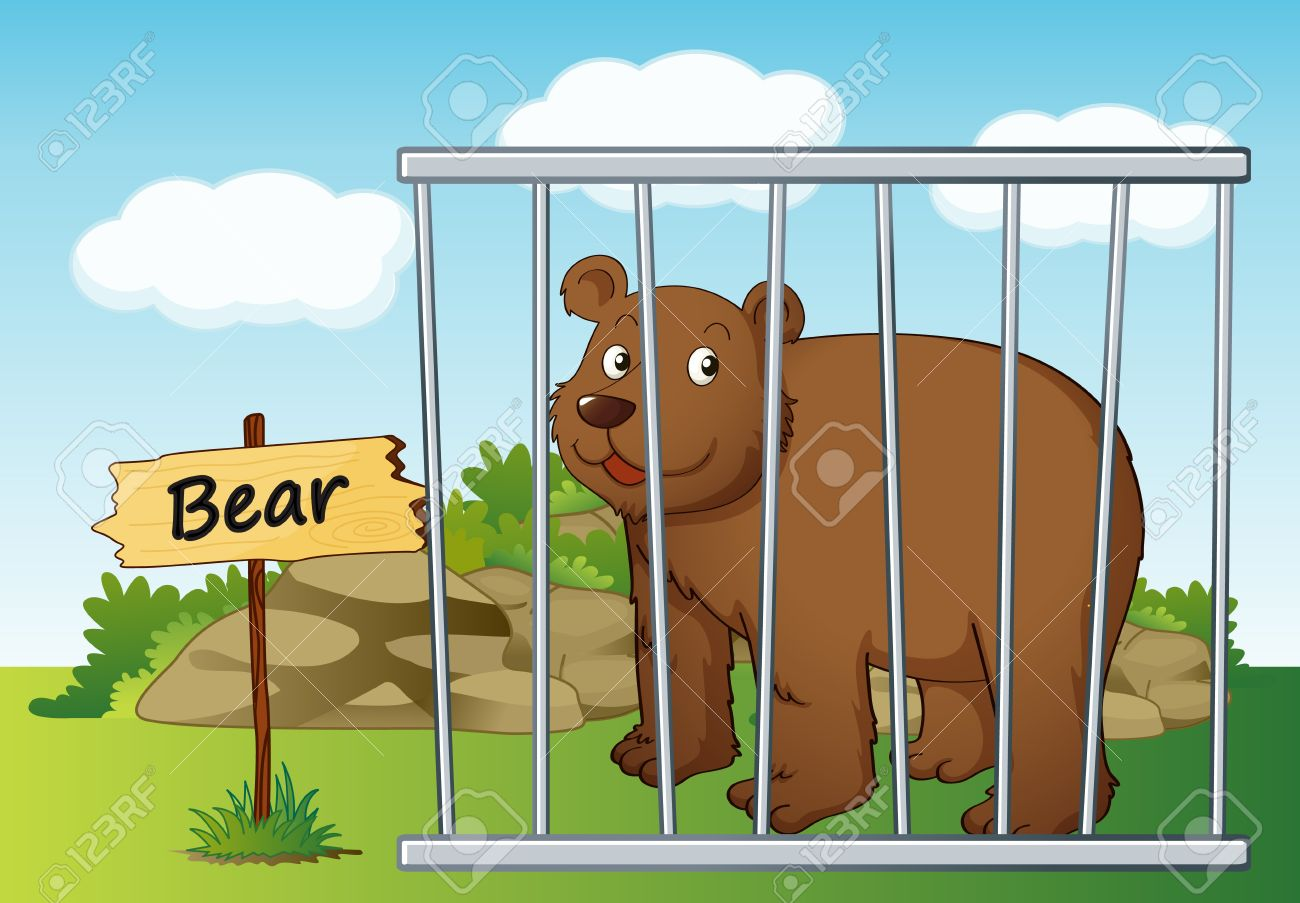 Animal In Cage Clipart.